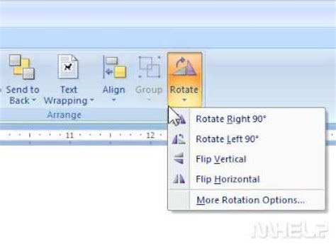 Rotate A Table In Word by How To Rotate An Object In Word