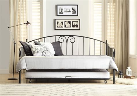 Black Metal Daybed Ruby Black Metal Daybed With Trundle From Homelegance 4960db Nt Coleman Furniture
