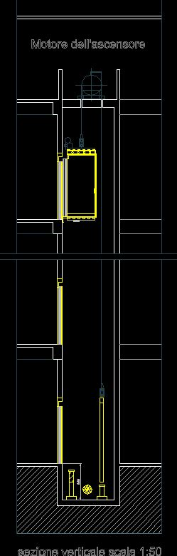 how to section someone section in elevator shafts dwgautocad drawing stuff to