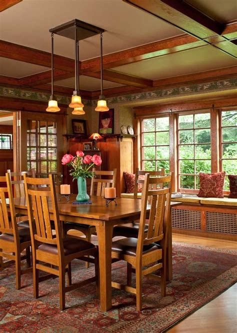 refined bungalow  portland craftsman dining rooms