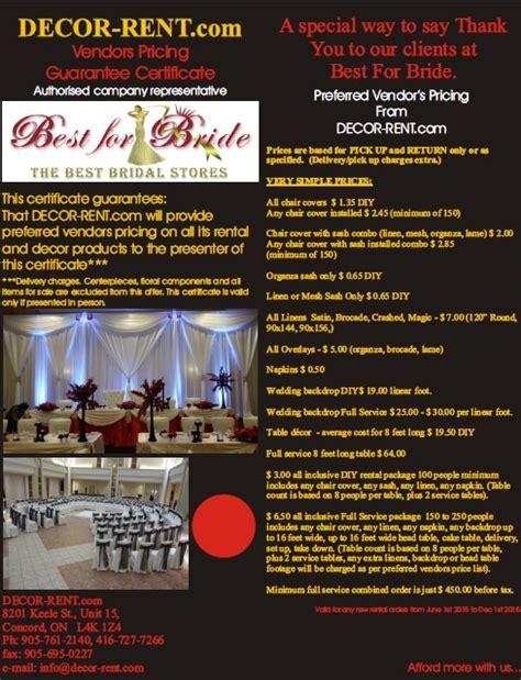 Wedding Decorations Brochure by Decor Rent Brochure