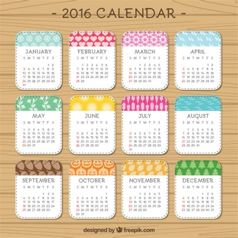 cute printable planner 2016 pdf cute 2016 calendar vector free download