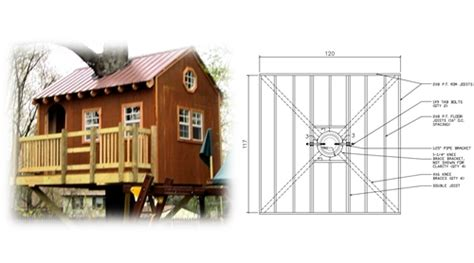tree houses plans 8 square treehouse plan standard treehouse plans attachment hardware