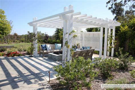 Outdoor Pergola And Fire Pit The Sunny Side Up Blog Pergola With Pit