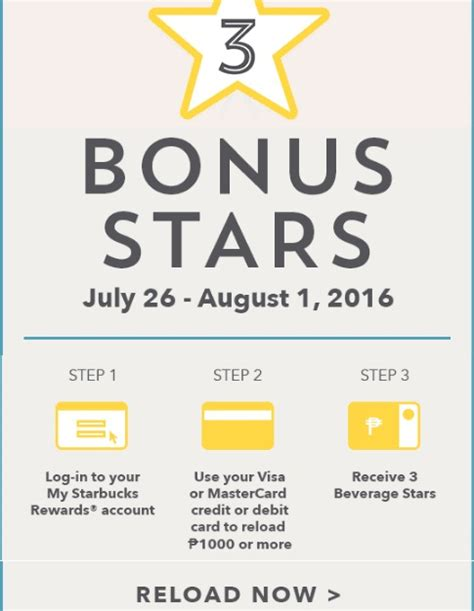 Can I Reload My Starbucks Card With A Gift Card - starbucks card get 3 bonus stars on p1 000 reload barat ako