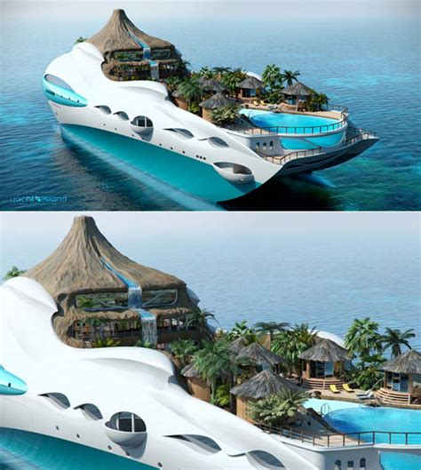 yacht island design tropical island paradise an incredible yacht concept