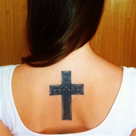 plain black cross tattoo plain cross on backdenenasvalencia