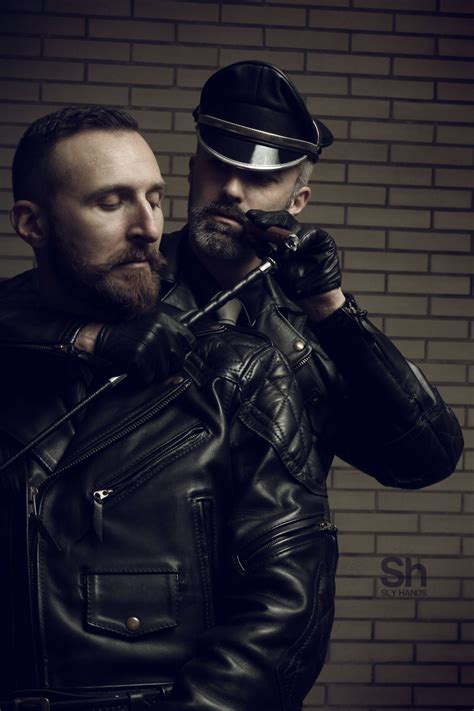 Black Master Cigar leather cops photo play masters and slaves