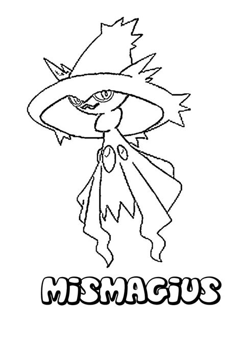 ghost pokemon coloring pages ghost pokemon coloring pages mismagius