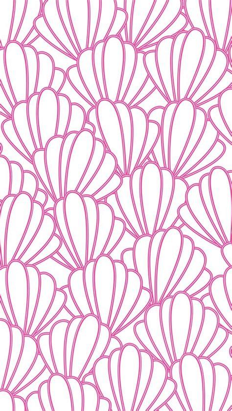 pink pattern wallpaper iphone iphone 5 wallpaper preppy seashells pattern iphone