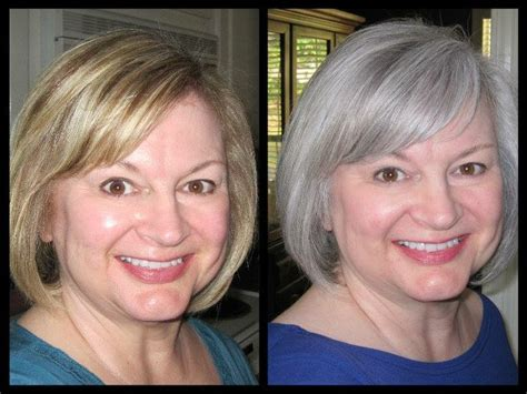 before after gray hair before after gray hair balayage highlights for grey hair
