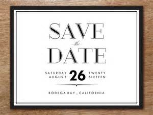 save the date templates save the date template classic black and white