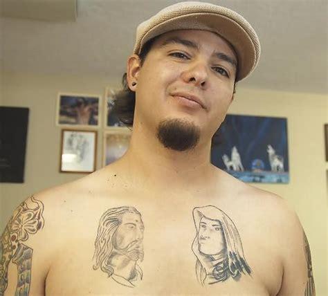 virgin mary tattoo on chest jesus virgin mary tattoo on chest