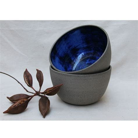 Handmade Ceramic Gifts - handmade ceramic bowl in grey and cobalt blue homeware