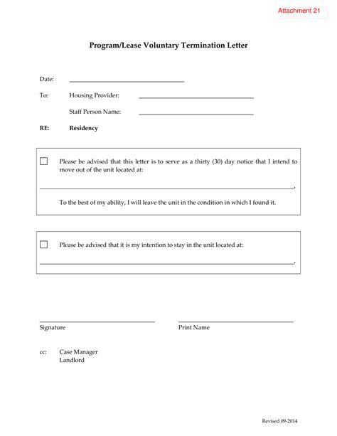 telecharger gratuit program lease voluntary termination letter