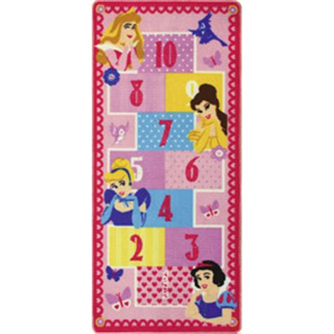 shop disney princess hopscotch rug at lowes - Disney Princess Hopscotch Rug