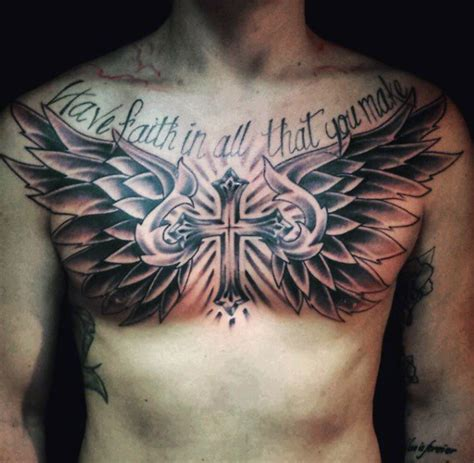 chest cross tattoo top 60 best cross tattoos for photo ideas and designs