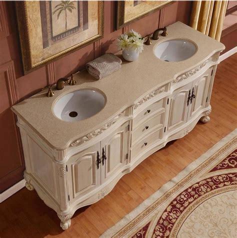 72 inch white bathroom vanity silkroad 33 inch antique white double sink bathroom vanity cream marfil marble