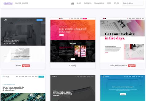 9 Awesome Places To Find Free Or Premium Elementor Templates Free Elementor Templates