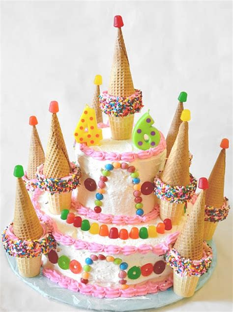 Home Made Cake Decorations by Castle Cake Easy Candyland Cake
