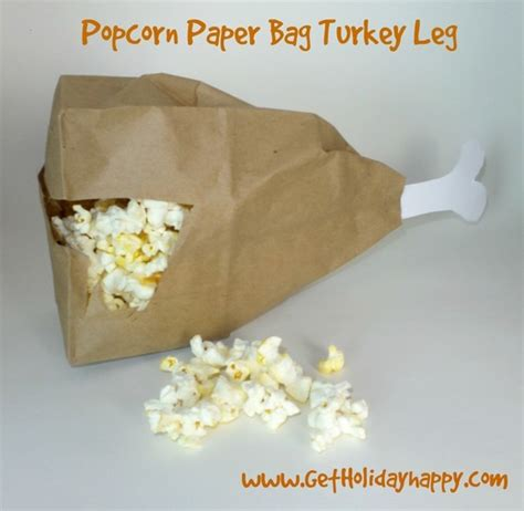 How To Make Popcorn Out Of Paper - popcorn paper bag turkey leg