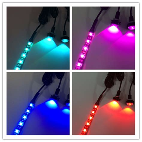 rgb led boat lights rgb led bolt screw light car motor led license marine boat
