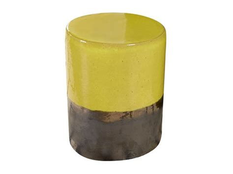 Mustard Colored Stool by Mustard Yellow Two Tone Garden Stool Stools Benches