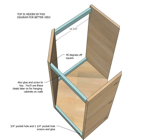 How To Build A Corner Kitchen Cabinet White Build A Wall Kitchen Corner Cabinet Free And Easy Diy Project And Furniture Plans