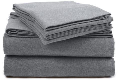 light grey jersey sheets gt gt gt sale pinzon heather jersey sheet set queen light grey