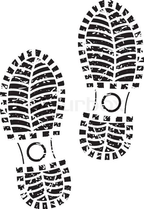 running shoe print vector black shoe print vector colourbox rttebx clipart kid