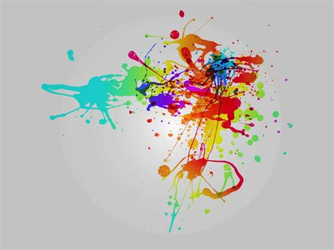rainbow splatter vector graphics freevector