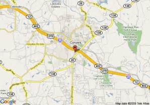 map of conyers map of microtel inn and suites conyers conyers
