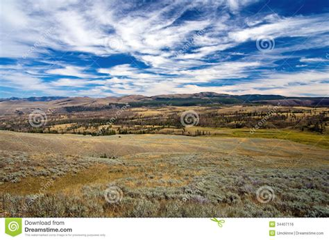 yellowstone landscape royalty free stock image image