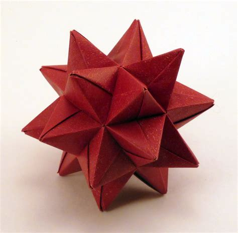 red origami star christmas ornament red star ornament red