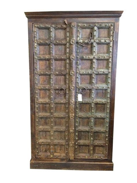 carved wood cabinet doors double door cabinet armoires carved wood india antique