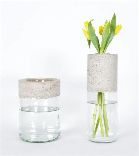 Diy Glass Vase by Best 20 Diy Concrete Ideas On Concrete