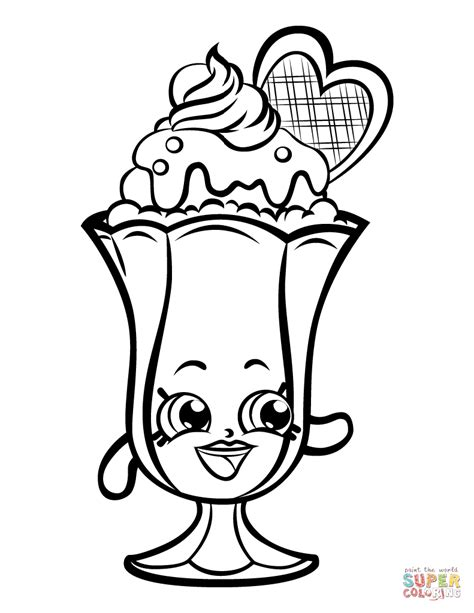 Sundae Coloring Pages coloring pages endearing sundae coloring page