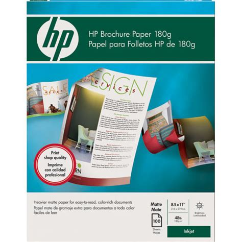 How To Make A Brochure On Paper - hp brochure and flyer paper matte 2 sided q5445a b h