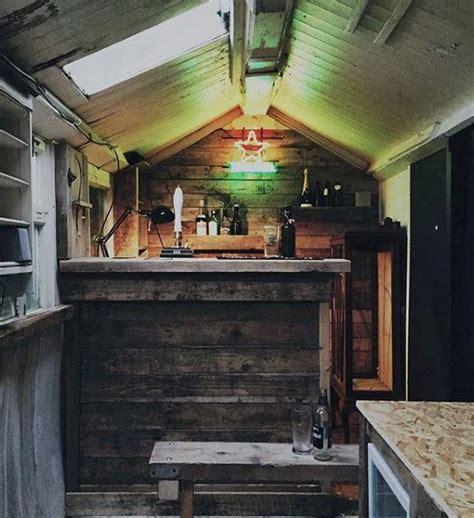pub shed bar ideas  men cool backyard retreat