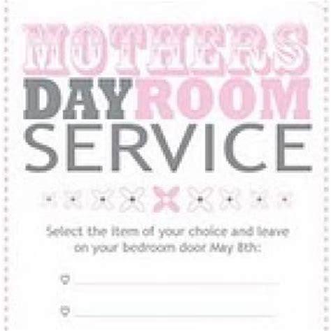 room service door hanger mothers day printable menu