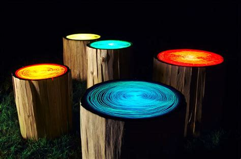 28 Illuminated Furniture Designs Wooden Tree With Lights