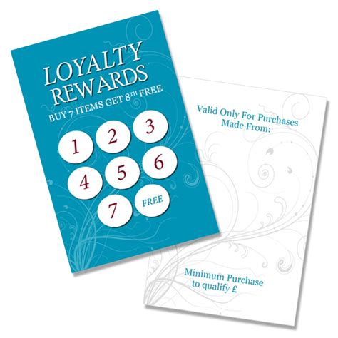 loyalty cards blank qty 100 scanit media