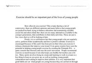 Benefit Of Exercise Essay by Gcse Persuasive Essay Quot Exercise Should Be An Important Part Of The Lives Of