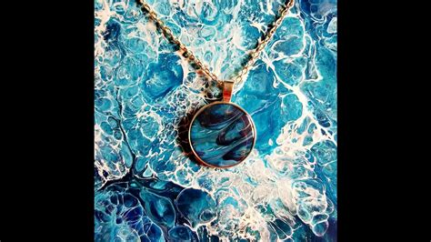 acrylic paint jewellery process tiny painting pendants fluid acrylic