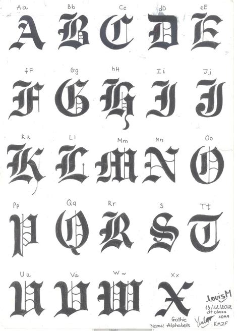 gothic letters tattoo designs 25 best ideas about alphabet on black
