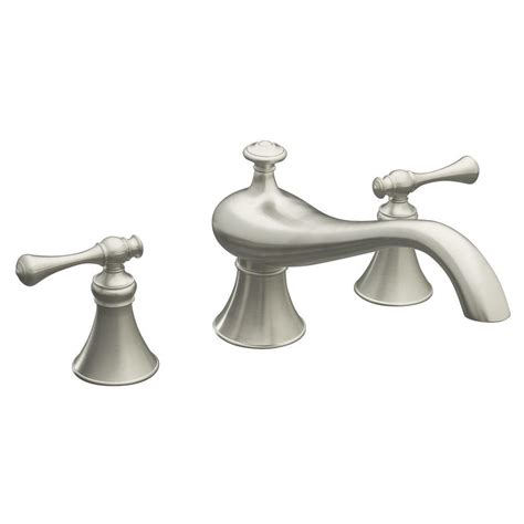 kohler revival bathroom faucet kohler revival bath faucet trim only in vibrant brushed nickel k t16119 4a bn the