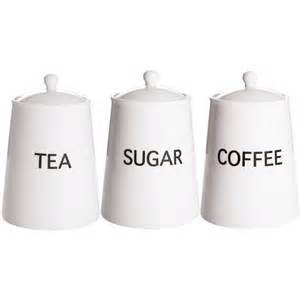 Contemporary Kitchen Canisters by Artic Trio Tea Coffee And Sugar Canisters