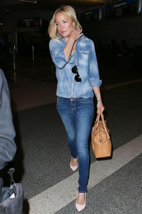 Denim Kate Hudson by Kate Hudson In At Lax Airport April 2015