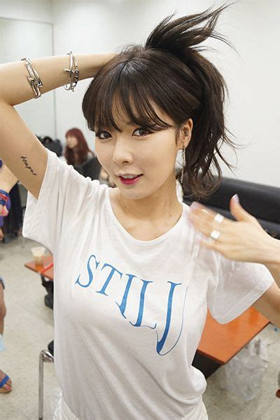 hyuna tattoo only now i noticed suzy has a random