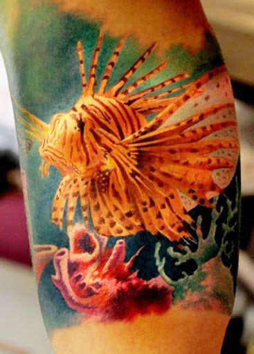 lionfish tattoo 17 best ideas about aquatic on sea